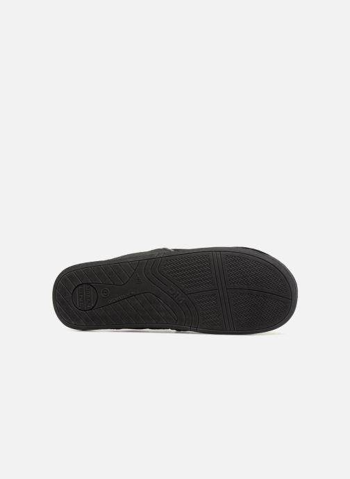 Slippers Dim D LIBER C Black view from above