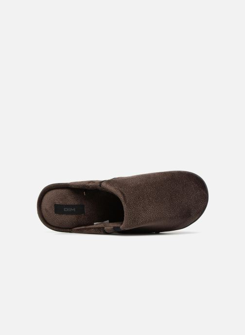 Slippers Dim D LIBER C Brown view from the left