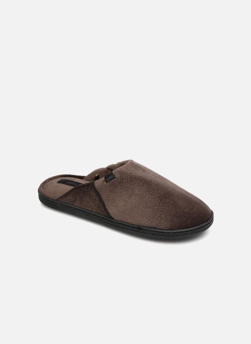 Pantoffels Dim D LIBER C Bruin detail