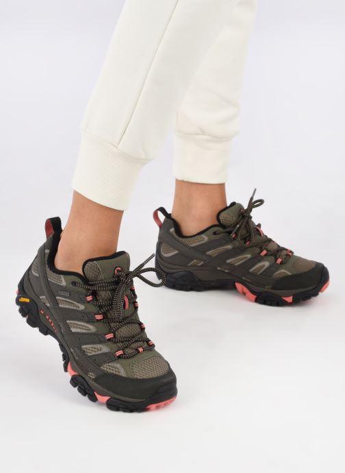 Chaussures de sport Merrell MOAB 2 GTX W Vert vue bas / vue portée sac