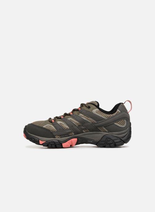 Chaussures de sport Merrell MOAB 2 GTX W Vert vue face