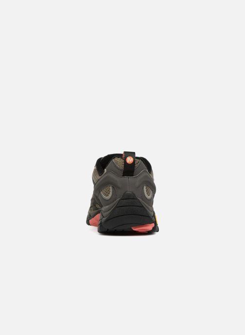 Chaussures de sport Merrell MOAB 2 GTX W Vert vue droite