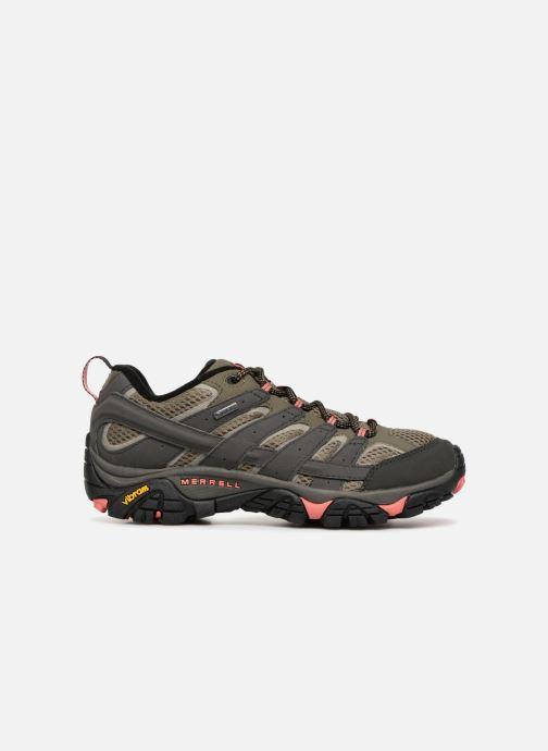 Chaussures de sport Merrell MOAB 2 GTX W Vert vue derrière