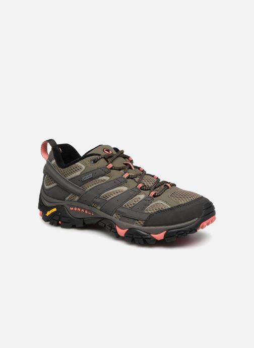 Chaussures de sport Merrell MOAB 2 GTX W Vert vue détail/paire