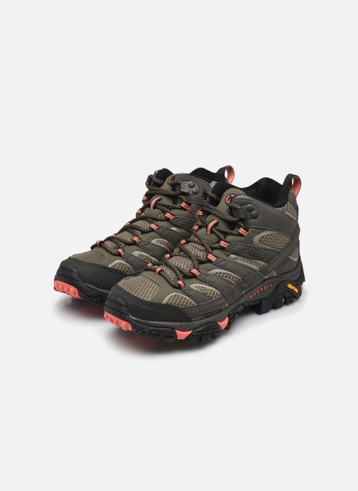 Chaussures de sport Merrell MOAB 2 MID GTX W Vert vue bas / vue portée sac