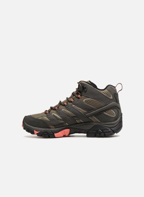 Chaussures de sport Merrell MOAB 2 MID GTX W Vert vue face