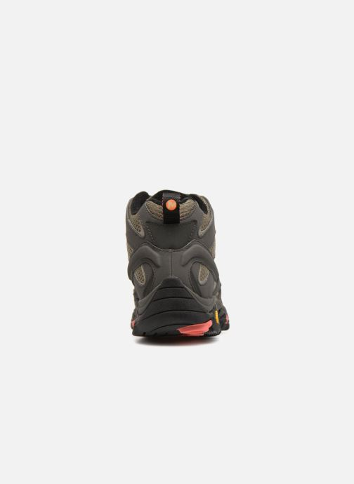 Chaussures de sport Merrell MOAB 2 MID GTX W Marron vue droite