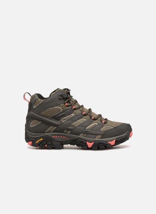 Chaussures de sport Merrell MOAB 2 MID GTX W Vert vue derrière