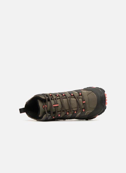 Chaussures de sport Merrell MOAB 2 MID GTX W Vert vue gauche