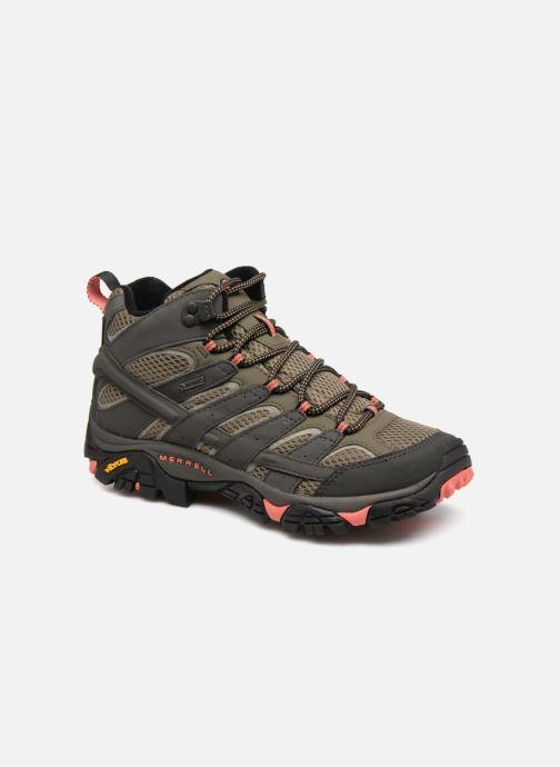 Chaussures de sport Merrell MOAB 2 MID GTX W Vert vue détail/paire