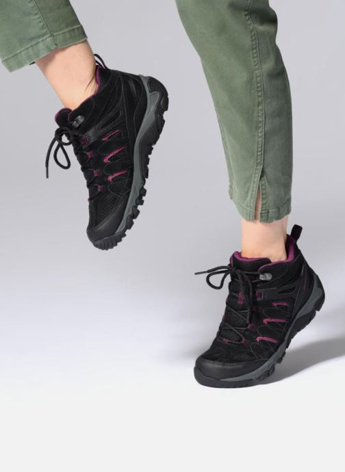 Sport shoes Merrell OUTMOST MID VENT GTX W Black view from underneath / model view