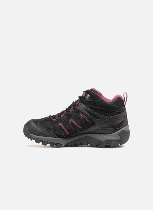 Sport shoes Merrell OUTMOST MID VENT GTX W Black front view
