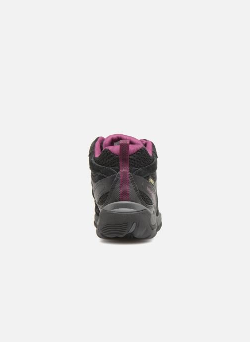 Sport shoes Merrell OUTMOST MID VENT GTX W Black view from the right