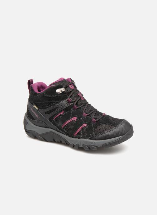 Chaussures de sport Merrell OUTMOST MID VENT GTX W Noir vue détail/paire
