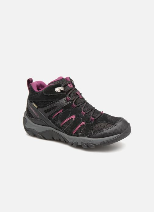 Sport shoes Merrell OUTMOST MID VENT GTX W Black detailed view/ Pair view