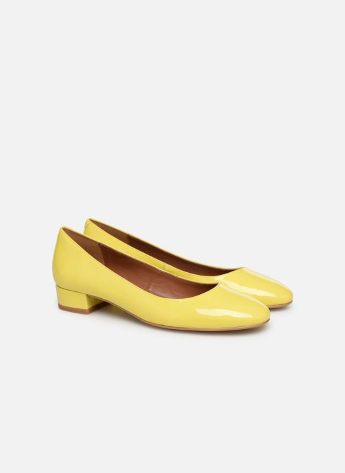 Ballet pumps Made by SARENZA UrbAfrican Ballerines #3 Yellow back view