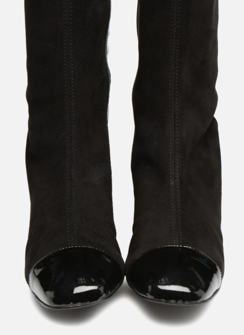 Girl By 80's Made Bottes1 Vernis Sarenza Velours Noir Et Disco Cuir 0PknwO
