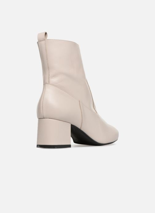 à Boots Girl Talons6 Lisse By Sarenza Bottines Made Blanc Cuir Et Toundra EH29DI
