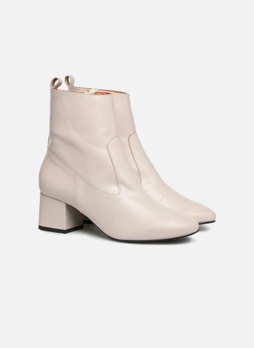 Bottines et boots Made by SARENZA Toundra Girl Bottines à Talons #6 Blanc vue derrière