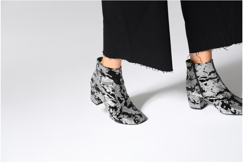 Bottines et boots Made by SARENZA 80's Disco Girl Bottines à Talons #7 Argent vue bas / vue portée sac