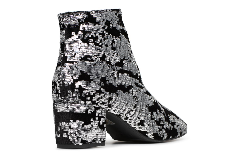 Bottines et boots Made by SARENZA 80's Disco Girl Bottines à Talons #7 Argent vue face
