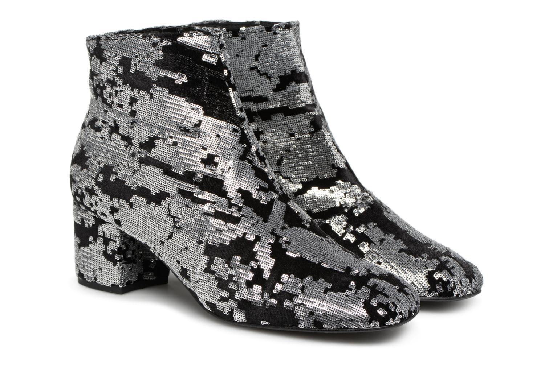 Bottines et boots Made by SARENZA 80's Disco Girl Bottines à Talons #7 Argent vue derrière