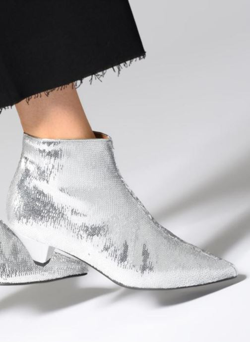 Bottines et boots Made by SARENZA 80's Disco Girl Bottines à Talons #2 Argent vue bas / vue portée sac