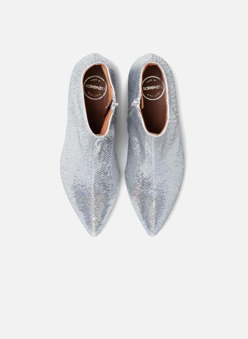 Bottines et boots Made by SARENZA 80's Disco Girl Bottines à Talons #2 Argent vue portées chaussures