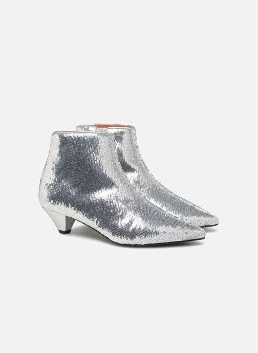 Bottines et boots Made by SARENZA 80's Disco Girl Bottines à Talons #2 Argent vue derrière