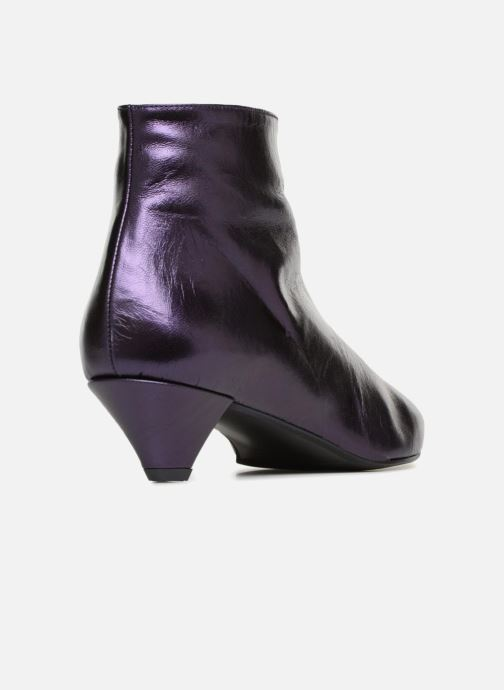 Ankle boots Made by SARENZA 80's Disco Girl Bottines à Talons #2 Purple front view
