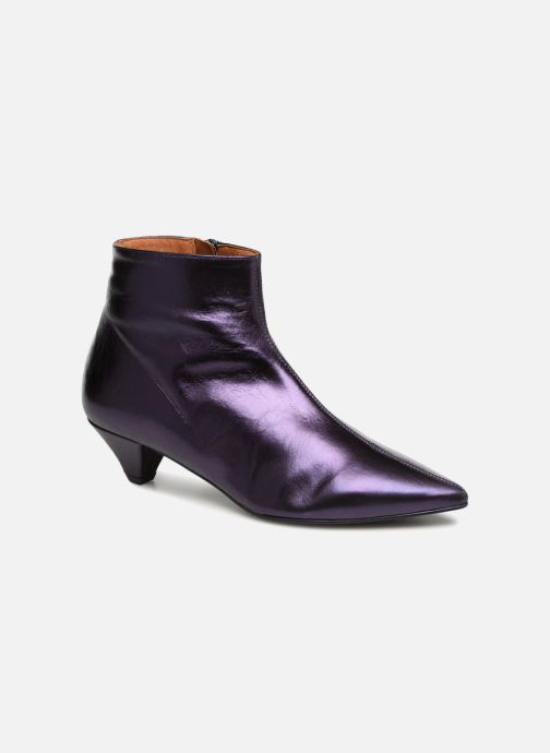 Ankle boots Made by SARENZA 80's Disco Girl Bottines à Talons #2 Purple view from the right