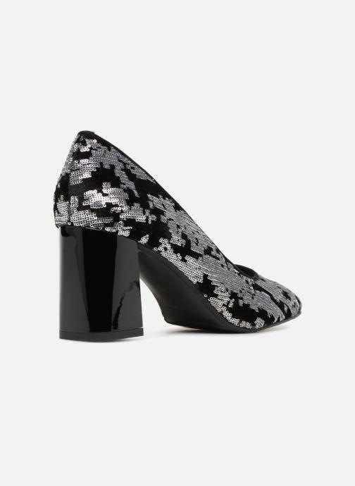 High heels Made by SARENZA 80's Disco Girl Escarpins #4 Silver front view
