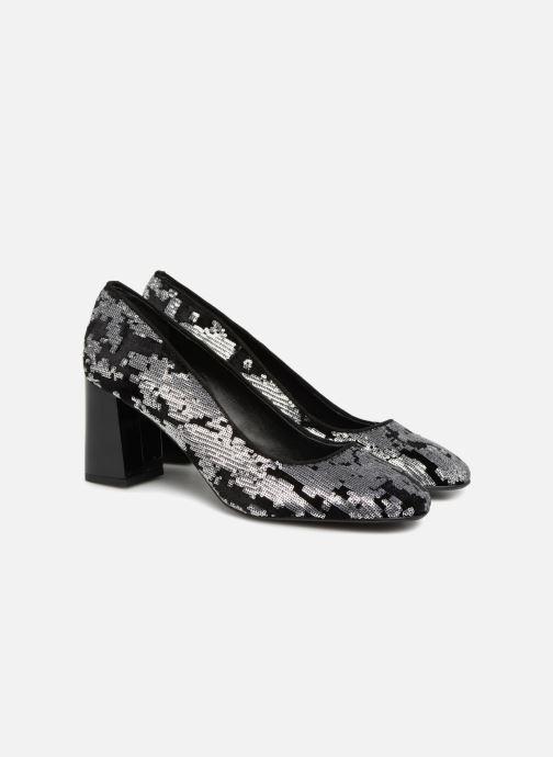 High heels Made by SARENZA 80's Disco Girl Escarpins #4 Silver back view