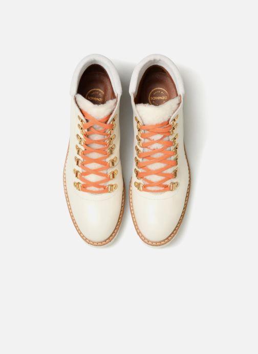 Boots en enkellaarsjes Made by SARENZA Toundra Girl Bottines Plates #2 Wit model