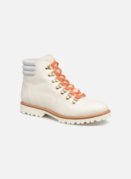 Boots en enkellaarsjes Made by SARENZA Toundra Girl Bottines Plates #2 Wit rechts