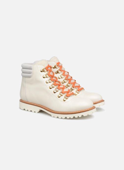 Boots en enkellaarsjes Made by SARENZA Toundra Girl Bottines Plates #2 Wit achterkant