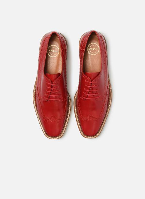 Scarpe con lacci Made by SARENZA Pastel Affair Chaussures à Lacets #5 Rosso modello indossato
