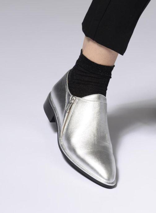 Mocassins Made by SARENZA 80's Disco Girl Chaussures à Lacets #1 Argent vue bas / vue portée sac