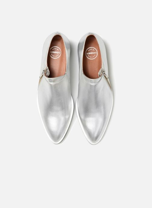Mocassins Made by SARENZA 80's Disco Girl Chaussures à Lacets #1 Argent vue portées chaussures