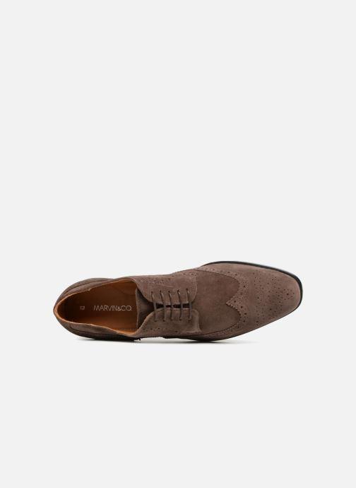 Chaussures à lacets Marvin&Co Nalsown Marron vue gauche