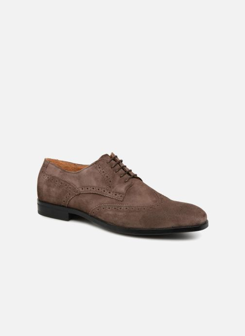 Snøresko Marvin&Co Nalsown Brun detaljeret billede af skoene