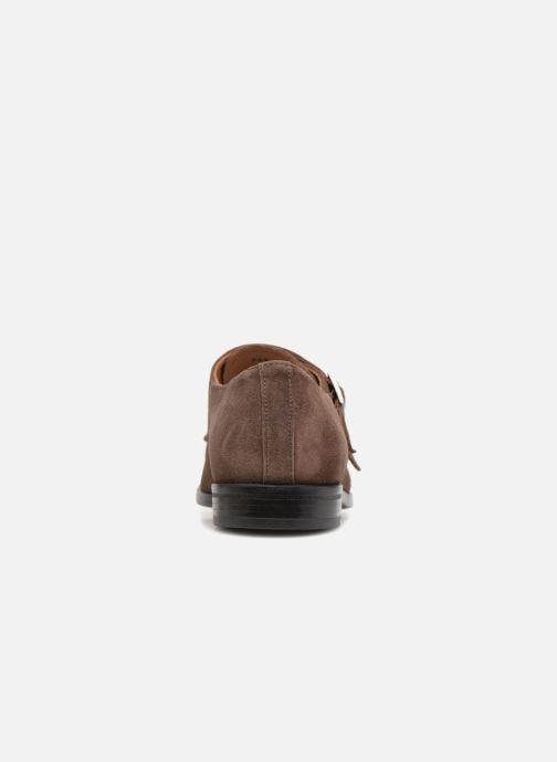 Zapato con hebilla Marvin&Co Nantone Marrón vista lateral derecha