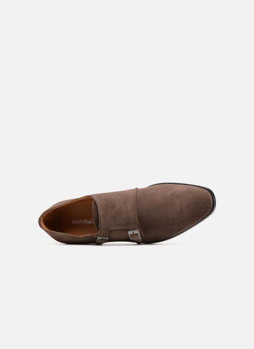 Zapato con hebilla Marvin&Co Nantone Marrón vista lateral izquierda