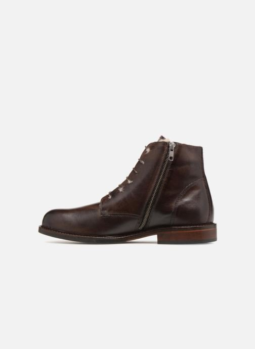 Ankle boots Marvin&co Nelwin Fourré Brown front view
