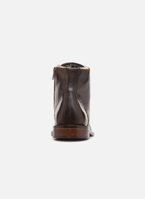 Ankle boots Marvin&co Nelwin Fourré Brown view from the right