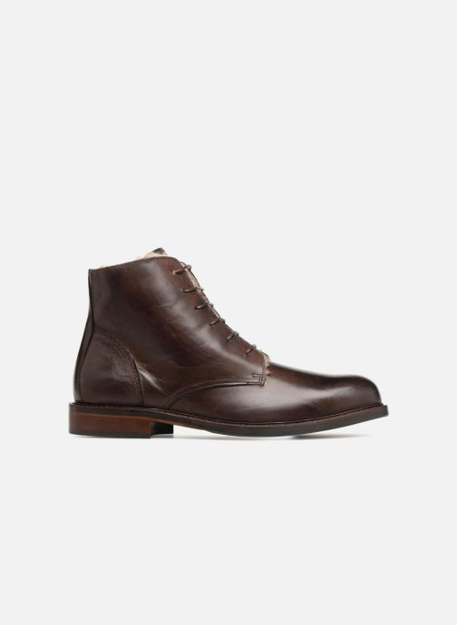 Ankle boots Marvin&co Nelwin Fourré Brown back view