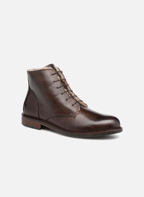 Bottines et boots Marvin&Co Nelwin Fourré Marron vue détail/paire