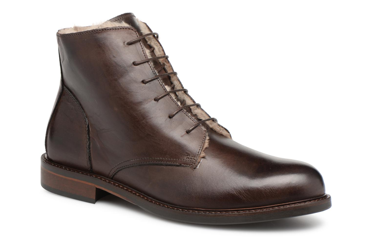 Bottines et boots Marvin&Co Nelwin Fourré Marron vue détail/paire