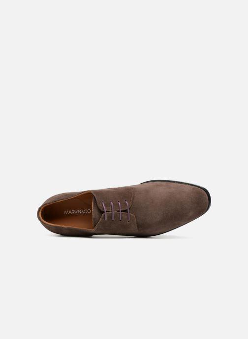 Chaussures à lacets Marvin&Co Nanlyn Marron vue gauche