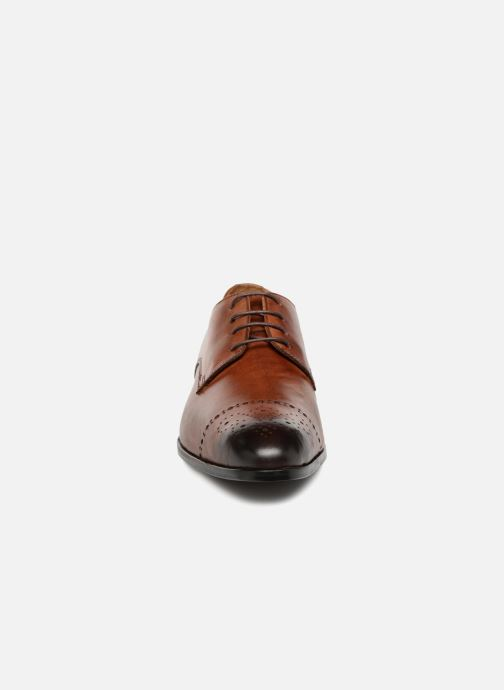 Schnürschuhe Marvin&Co Nelton braun schuhe getragen